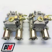 Genuine Pair Weber 45 DCOE 152G Twin Carburettors & Fuel Unions
